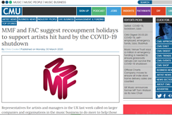 Complete Music Update notes IAFAR call for support during Covid-19 pandemic